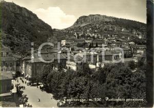 1955 TAGLIACOZZO (AQ) Veduta panoramica del paese *Cartolina ANIMATA FP VG