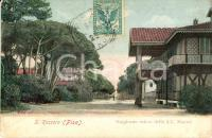1906 PISA Tenuta estiva dei Reali a SAN ROSSORE *Cartolina postale FP VG
