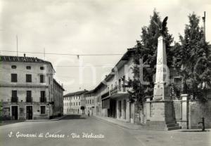 1965 CASARSA DELLA DELIZIA (PN) Via PLEBISCITO a SAN GIOVANNI *Cartolina FG VG