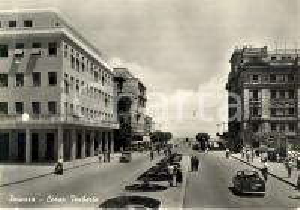 1950 ca PESCARA SIATA AMICA CABRIOLET in Corso UMBERTO *Cartolina ANIMATA FG VG