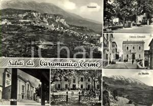 1963 CARAMANICO TERME (PE) Vedutine chiesa di SAN NICOLA e MAIELLA *Cartolina VG