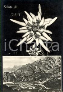 1959 CLAUT (PN) Vedutina del paese e della Val CELLINA *Cartolina postale FG VG