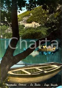1963 MONTICCHIO (PZ) In barca sul Lago PICCOLO con Badia *Cartolina FG VG