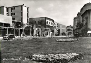 1962 PRATO Piazza SAN MARCO e Viale VITTORIO VENETO - Casa COMBATTENTE e AGIP
