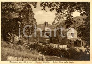 1947 VERNIO (PO) Chiesa della Badia di SANTA MARIA a MONTEPIANO *Cartolina FG VG