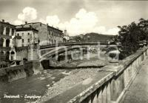 1973 PONTREMOLI (MS) Veduta fiume MAGRA con ponte *Cartolina postale FG VG