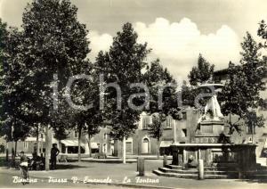 1950 ca BIENTINA (PI) Veduta Piazza VITTORIO EMANUELE con fontana *ANIMATA FG VG