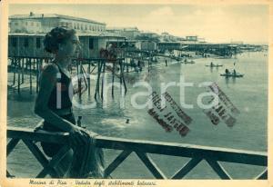 1939 MARINA DI PISA Bagnante davanti agli stabilimenti balneari *ANIMATA FG VG