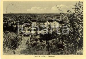 1952 FANNA (PN) Panorama del paese e dei dintorni *Cartolina postale FG VG