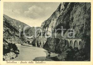 1948 VAL CELLINA (PN) Veduta strada e torrente CELLINA *Cartolina FG VG