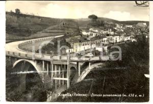 1960 RAPOLLA (PZ) Scorcio panoramico  *Cartolina ANIMATA CON AUTO FG VG
