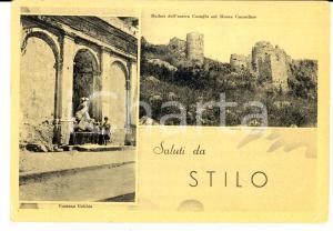 1964 STILO (RC) Vedutine con ruderi e fontana GEBBIA *Cartolina VINTAGE FG VG