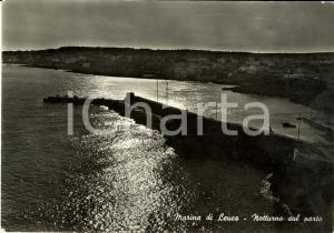 1963 SANTA MARIA DI LEUCA (LE) Notturno sul porto *Cartolina postale FG VG