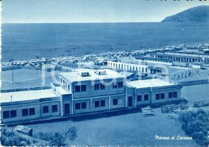 1958 MARINA DI CARRARA (MS) Stabilimenti balneari e spiaggia *Cartolina FG VG