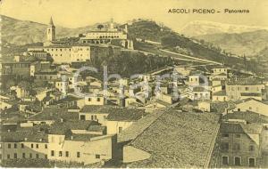 1909 ASCOLI PICENO Panorama dei tetti del paese con DUOMO *Cartolina FP VG