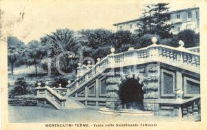 1929 MONTECATINI TERME (PT) Vasca Terme Stabilimento TETTUCCIO *Cartolina FP VG