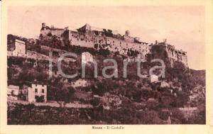 1927 MASSA (MS) VEduta panoramica paese con castello *Cartolina postale FP VG