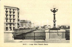 1930 ca BARI Veduta del Lungomare NAZARIO SARIO *Cartolina postale FP NV