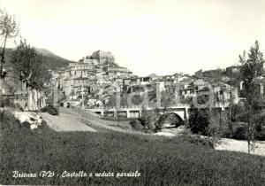 1960 ca BRIENZA (PZ) Veduta panoramica paese e castello *Cartolina postale FG NV