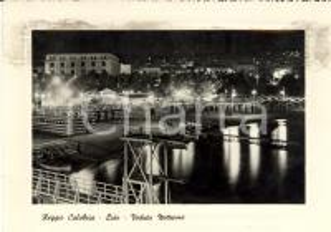 1949 REGGIO CALABRIA Veduta notturna del Lido *Cartolina postale ANIMATA FG VG