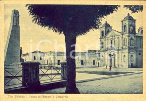 1941 VIBO VALENTIA Veduta Piazza dell'IMPERO e cattedrale *Cartolina FG VG