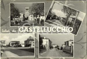 1955 CASTELLUCCHIO (MN) Vedutine del paese con Torre CIVICA *Cartolina FG VG