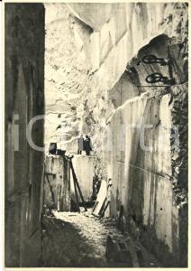 1946 CARRARA FOSSA CAVA Ditta G. & G. PAPASOGLI - Marmo bianco *Cartolina FG VG