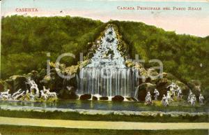 1914 CASERTA Veduta cascata principale nel Parco Reale *Cartolina postale FP VG