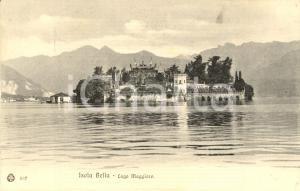 1915 ca STRESA (VB) Veduta dell'Isola BELLA sul lago MAGGIORE *Cartolina FP VG