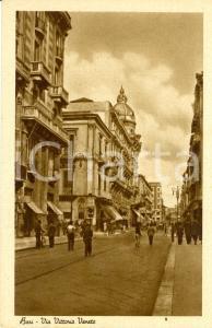 1940 ca BARI Veduta di Via VITTORIO VENETO con passanti *Cartolina FP NV