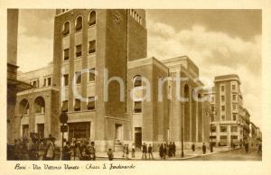 1940 ca BARI Via VITTORIO VENETO e Chiesa di SAN FERDINANDO *Cartolina FP NV