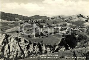 1955 VERGHERETO (FC) Panorama con ville di MONTECORONARO *Cartolina FG VG