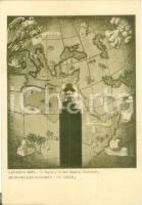 1936 VENEZIA Italia e Impero Coloniale Bepi LAVAGNA Ruggero MICAHELLES Cartolina