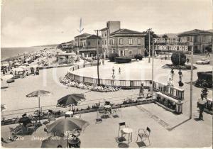 1964 PESCARA Spiaggia della pineta con Bar Lido delle Sirene *Cartolina FG VG