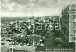 1957 PESCARA Veduta dei giardini e Hotel PALACE *Cartolina FG VG