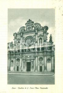 1957 LECCE Basilica di SANTA CROCE Monumento Nazionale *Cartolina FG VG