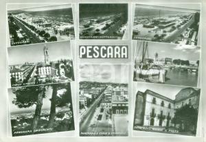 1957 PESCARA Vedutine lungomare Corso UMBERTO I *Cartolina FG VG