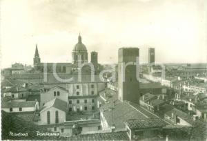 1950 MANTOVA Panorama e Cupola del DUOMO *Cartolina FG VG