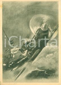 1941 PROPAGANDA DI GUERRA WW2 Spitfire abbattuto da ME 109 tedesco *Cartolina