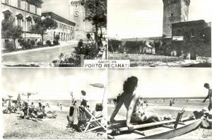 1955 ca PORTO RECANATI (MC) Vedutine spiaggia corso MATTEOTTI Arena GIGLI *FG NV