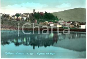 1963 BIBBIENA (AR) Scorcio del paese sul lago *Cartolina postale FG VG