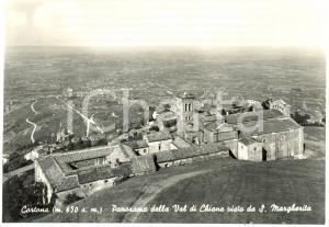 1955 ca CORTONA (AR) Panorama val CHIANA da SANTA MARGHERITA *Cartolina FG NV