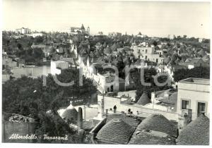 1960 ca ALBEROBELLO (BA) Veduta panoramica aerea TRULLI *Cartolina FG NV