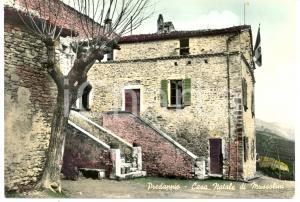1970 PREDAPPIO (FC) La casa natale di Benito MUSSOLINI di lato *Cartolina FG VG