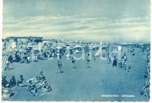 1949 CESENATICO (FC) Bagnanti in spiaggia *Cartolina FG VG