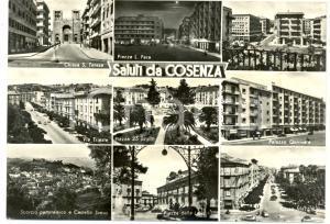 1950 COSENZA Vedutine SANTA TERESA Piazza LIBERTA' *Cartolina FG VG