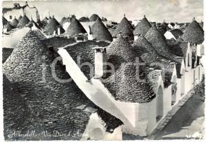 1950 ca ALBEROBELLO (BA) I Trulli di via DUCA D'AOSTA *Cartolina FG VG