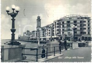 1957 BARI Grande Albergo delle NAZIONI e barche *Cartolina ANIMATA FG VG