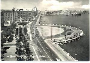 1959 BARI Automobili sul lungomare Nazario SAURO *Cartolina ANIMATA FG VG