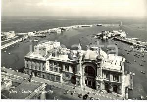 1955 ca BARI Veduta dall'alto Teatro MARGHERITA e Porto *Cartolina FG NV